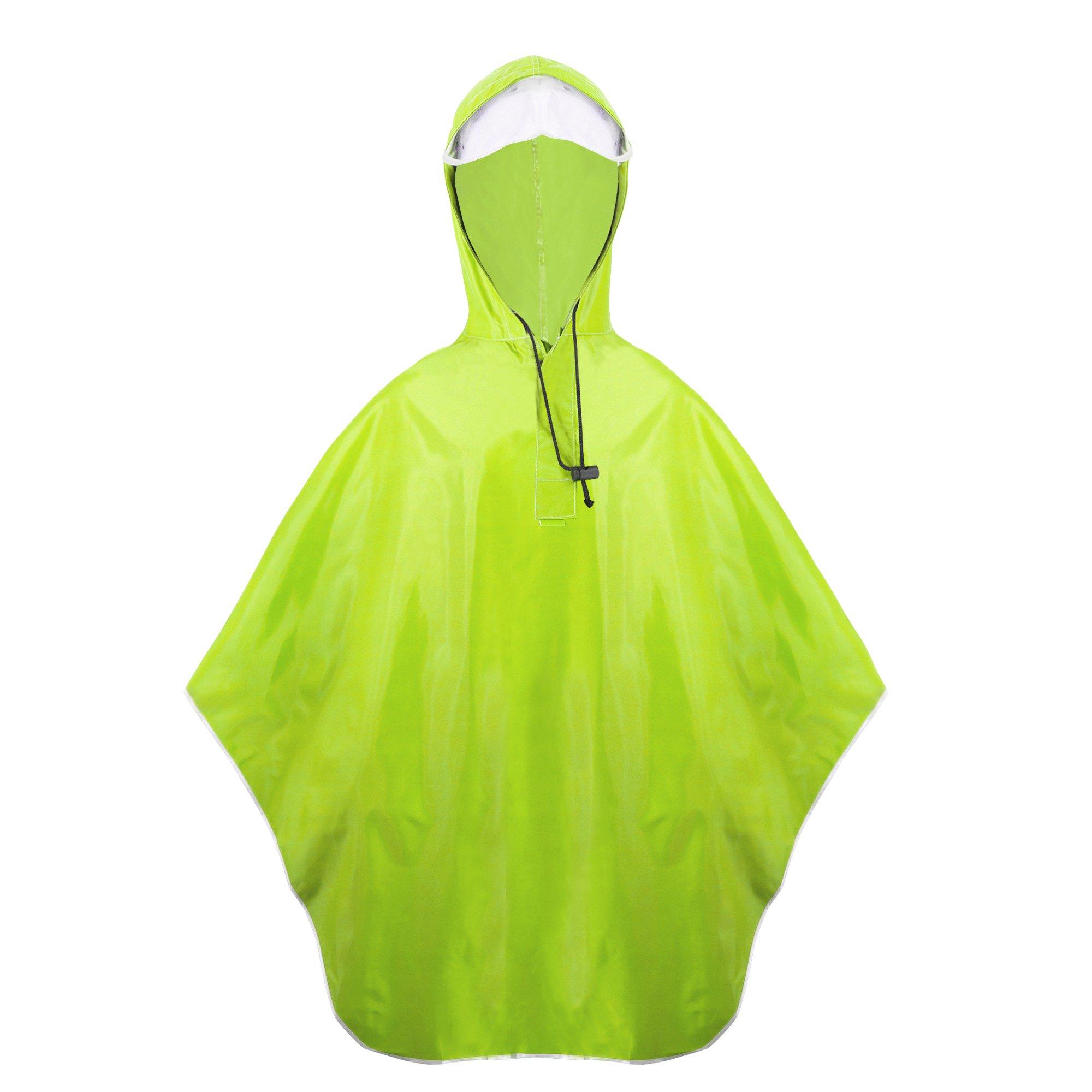 Balnna Women Rain Poncho and Zipper Waterproof Raincoat for Outdoor Activities-Yellow
