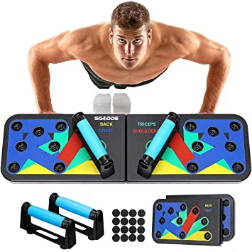 SGODDE 12 in 1 Push Up Board, Foldable Multifunctional Pushups Board  Fitness Equipment, Gym Home Muscle Builder Pushup Grips for Men and Women:  Amazon.co.uk: Sports & Outdoors