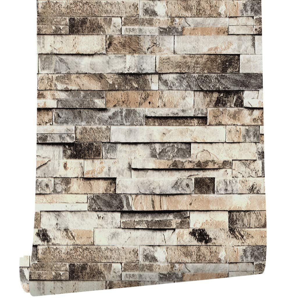 brick wall panel amazon com