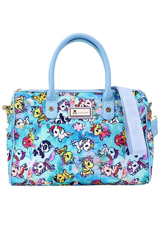 Tokidoki Watercolor Paradise Bowler Bag in bluee Multi