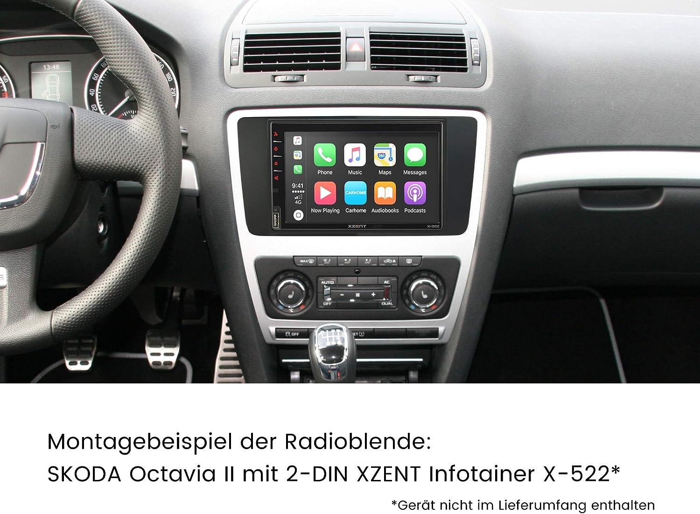 morebasics CAR et Navi Kit de montage autoradio 2/DIN et 1/DIN Skoda avec fa/çade dautoradio Quadlock//ISO Adaptateur radio et alimentation fant/ôme.