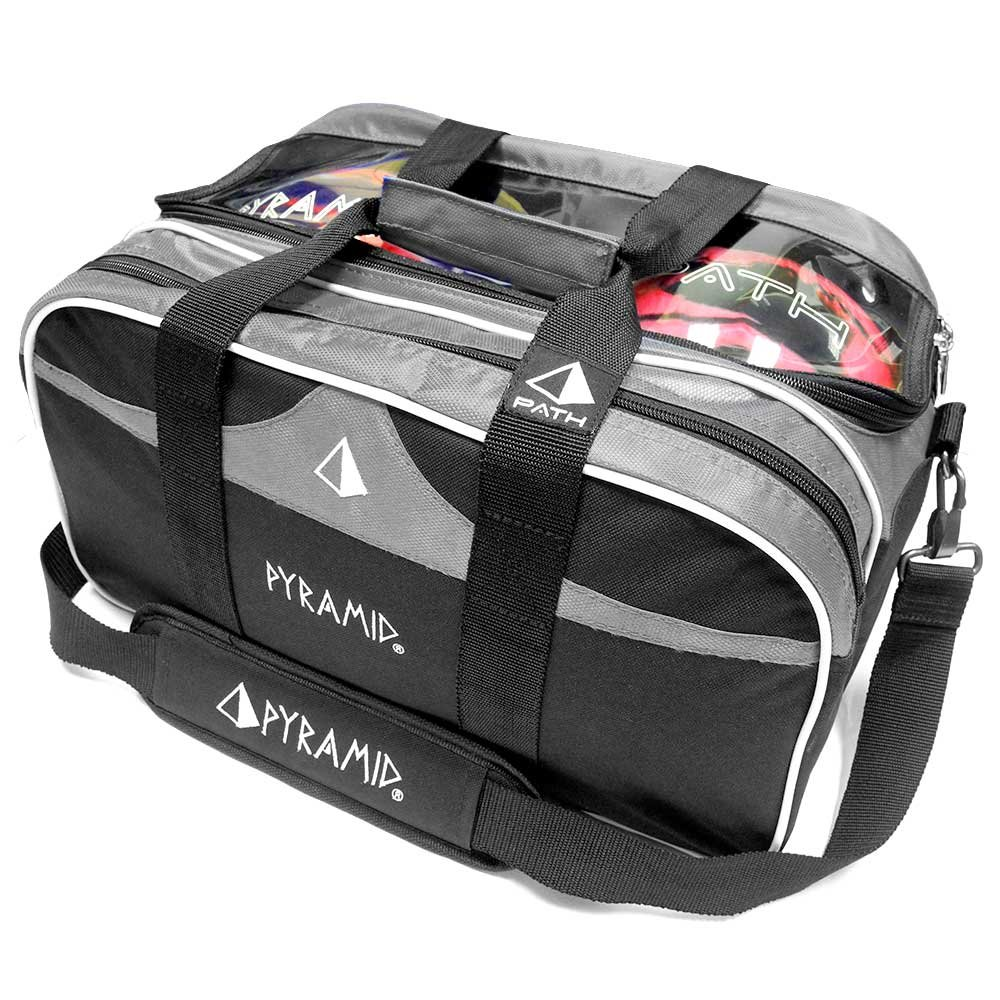 Path Double Tote Plus Clear Top Bowling Bag (Holds Shoes) by Pyramid