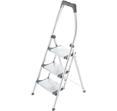Hailo 8040-401 Escalera de tijera aluminio (4 peldaños): Amazon.es: Bricolaje y herramientas