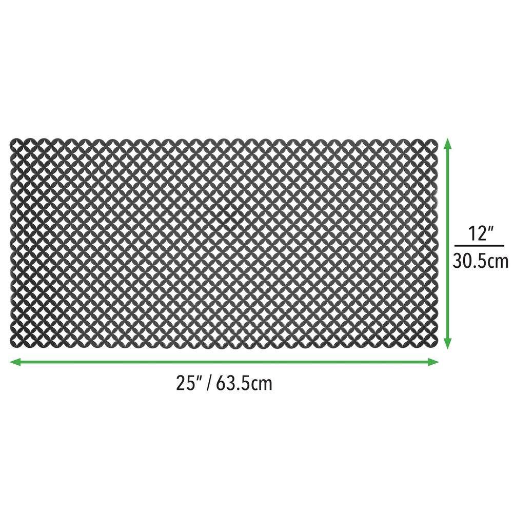 mDesign Tapete antideslizante para proteger el fregadero de ara/ñazos Alfombrilla de PVC extragrande negro Protector de fregadero de cocina con dise/ño de rejilla