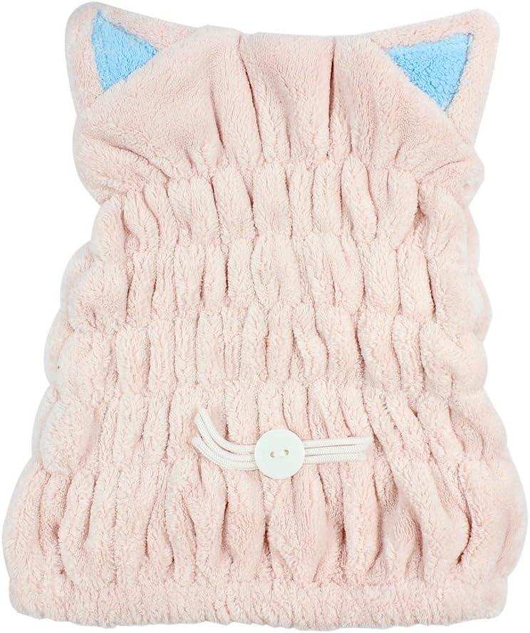azul Ranvi toalla de ba/ño de microfibra sombrero pelo secado r/ápido toalla sombrero lindo ba/ño herramienta s/úper suave absorbente cabello seco sombrero,