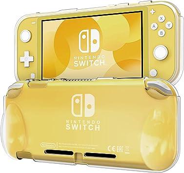 Blukar Funda Nintendo Switch Lite(2019), Carcasa Caso Transparente Silicona TPU Suave Anti-Arañazos Absorción ...