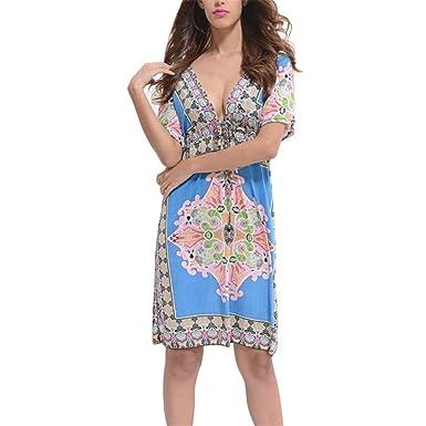Light Blue Tunic Dresses