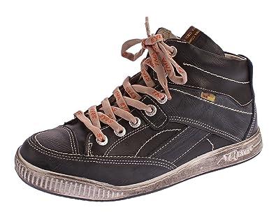 001ee183f3 TMA Herren Echt Leder Winter Schuhe 4141 Schnür Knöchel Schuhe Comfort  Boots Warm Gefüttert Schwarz Gr