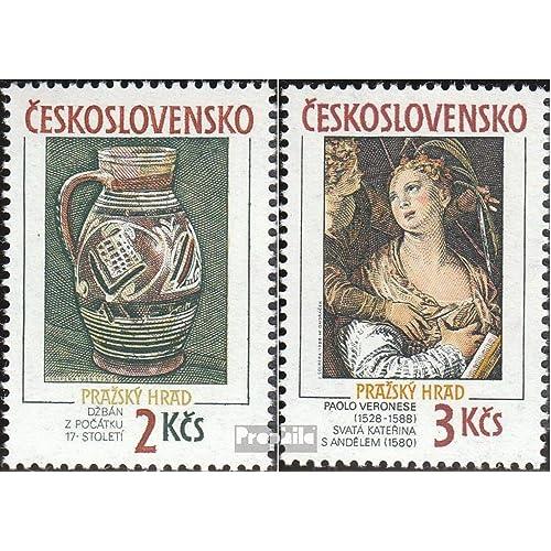 Tchécoslovaquie 2975-2976 (complète.Edition.) 1988 prague Château (Timbres pour les collectionneurs)