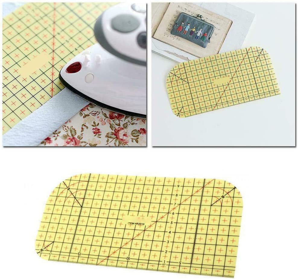 Hot Ironing Ruler Patch Tailor Craft DIY Sewing Supplies Measuring Handmade Tool for DIY Sewing Scrapbooking Quilting xiaoying Quilting Ruler