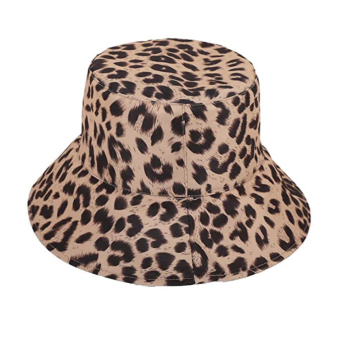 newest 9d956 360a4 Yucode Mens Womens Checked Bucket Hat Festival Fishing Outdoor Summer  Leopard Cap Fisherman s hat Red at Amazon Women s Clothing store