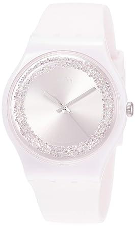 Swatch Reloj Analógico para Mujer de Cuarzo con Correa en Silicona SUOP110: Amazon.es: Relojes