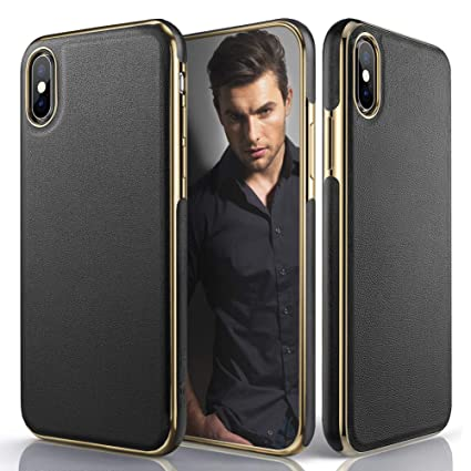 7aa053a153a4f LOHASIC Leather Case for iPhone Xs Max, Luxury Slim Fit Flexible Soft Full  Body Grip Hybrid Bumper Shockproof Protective Cover Cases Compatible with  ...