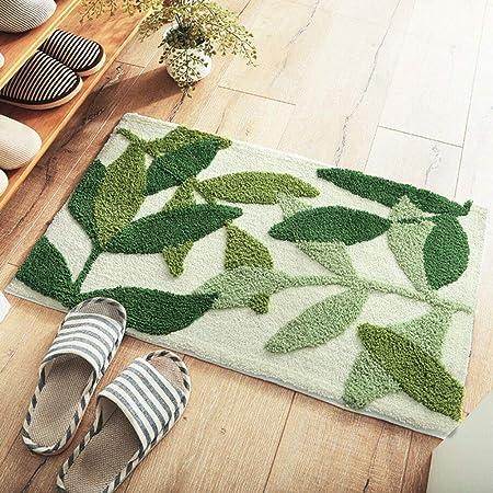 Alfombrilla para puerta, Patrón de hojas verdes Alfombra