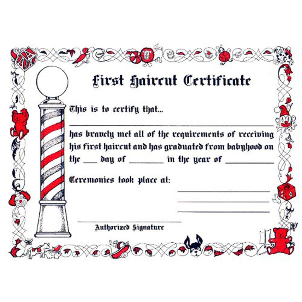 Amazon Kids First Haircut Certificates Beauty