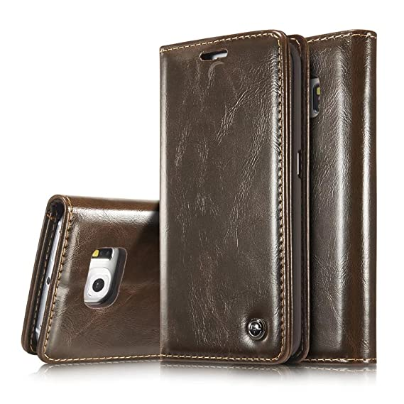 the best attitude 474a2 c8938 Note 5 Case,Galaxy Note 5 Wallet Case,AKHVRS Slim Genuine Leather Magnet  Cover Wallet Leather Case Flip Cover Folio Case,[Card Slot][Magnetic  Closure] ...