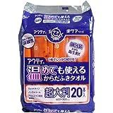 個包装だから衛生的 アクティ 温めても使える からだふきタオル 超大判 個包装 20本入 6個セット