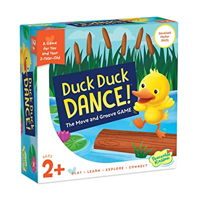 Peaceable Kingdom Games for Parents & Their 2-Year-olds: Duck Duck Dance - Toddler & Preschool Board Game of Moving Your Body & Following Directions: Toys & Games
