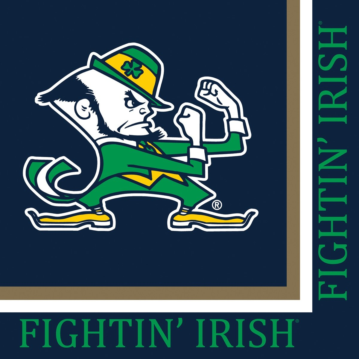 Notre Dame Fighting Irish Lunch Napkins, 20-Count