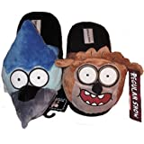 Regular Show RIGBY & MORDECAI Men's Plush SLIPPERS - Size Large