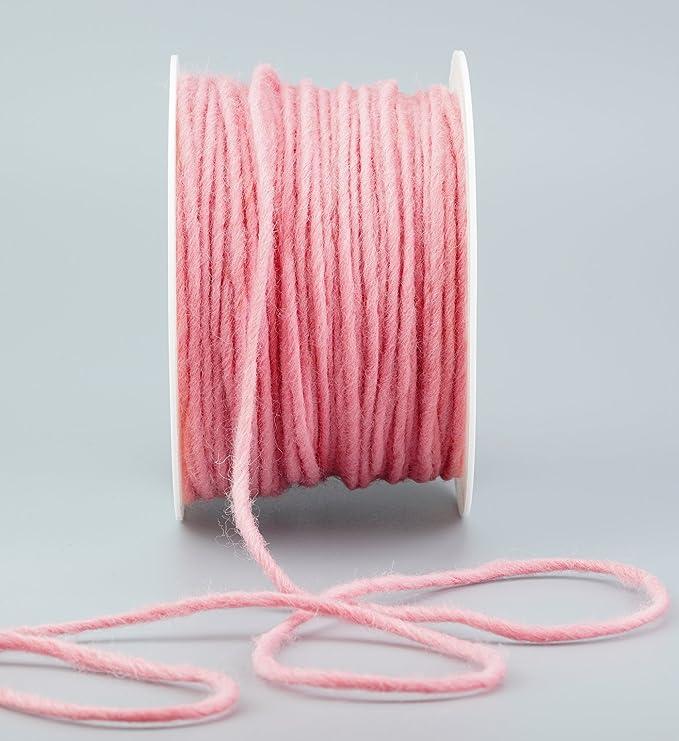 Kordel Tischdekoration Taufe 4mm  5 Meter dunkel rosa