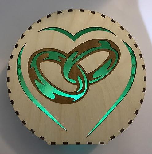 Dekorativer Kreis Mit Spruch Gravur Lampe Beleuchtung Led