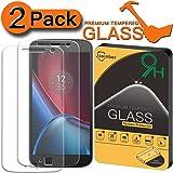[2-Pack] Jasinber Mica de Vidrio Cristal Templado para Moto G4 Plus