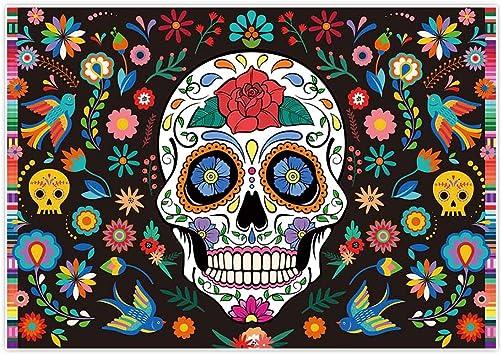 Printed Lightweight Fabric Dia de Muertos Halloween decoration Day of the Dead Fabric