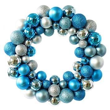 wer colorful balls christmas wreath garland ornaments arcades christmas decorations ball ringsilver blue - Blue Christmas Wreath