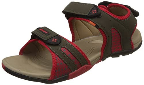 Buy Sparx Olive.Green.Red Floaters Size