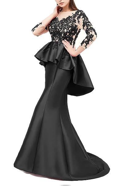 Amazon Butmoon Womens Long Sleeve Mermaid Prom Dress Lace Open