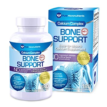 Pure Micronutrients Calcium Supplement (Citrate & Hydroxyapatite 1000mg)  for complete Bone Health + Magnesium