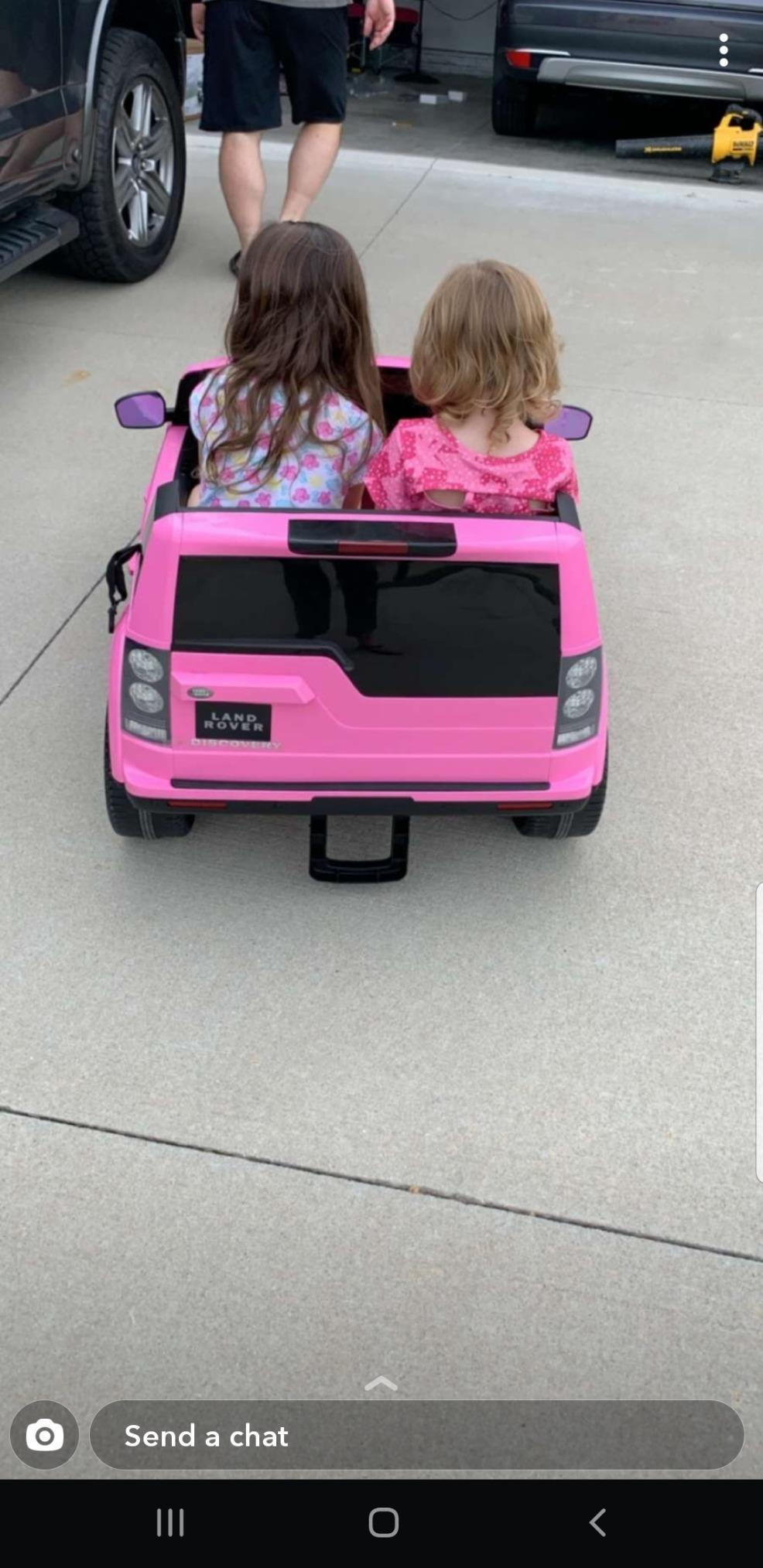 12V Licensed Land Rover Power Wheels Ride on SUV for Kids with Remote Control, Pink photo review