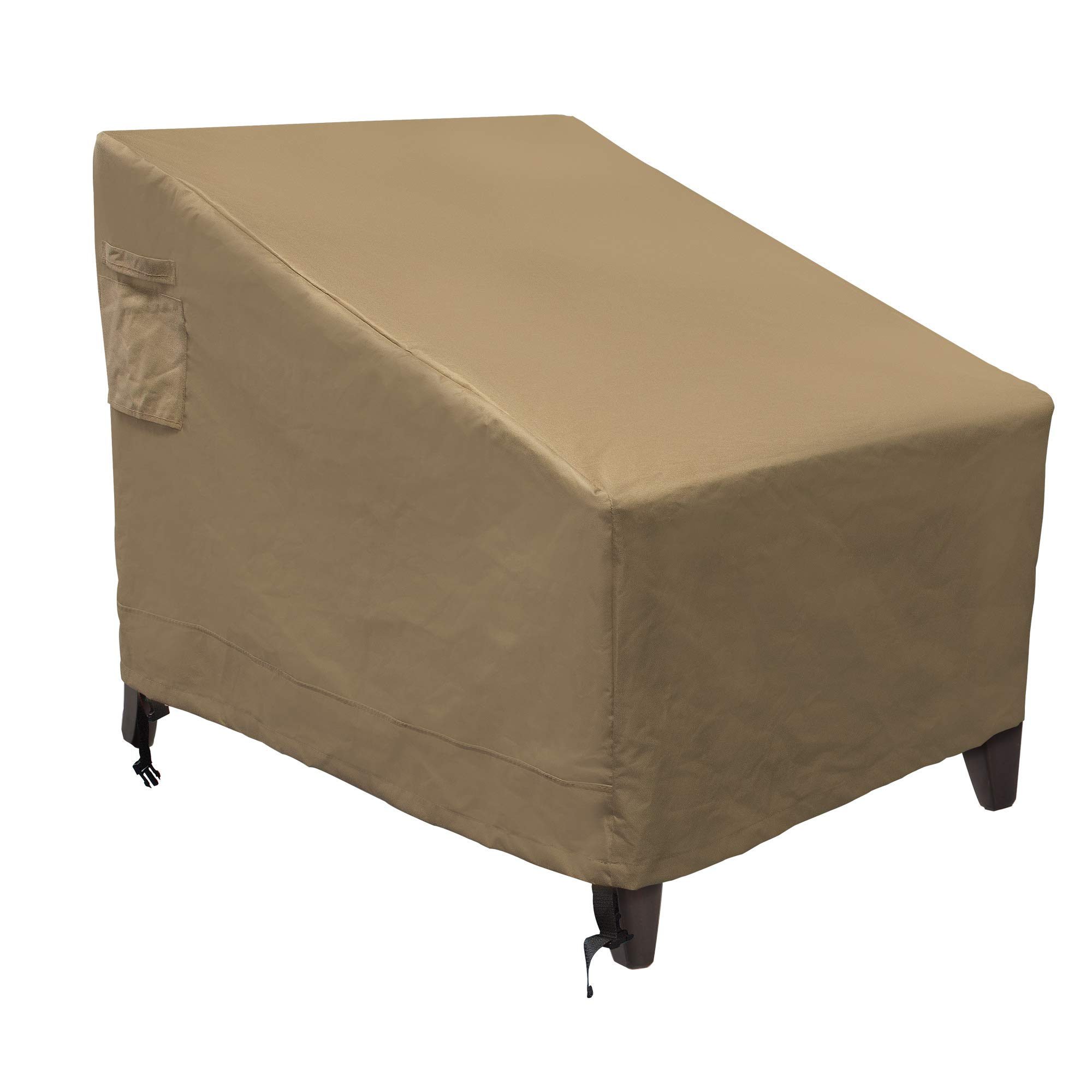 NEXTCOVER 2-Seater Deep Lounge Sofa Patio Cover-600D Canvas Heavy Duty Waterproof Fade Resistant -Tan Color,NP21820.