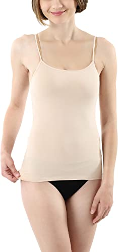 ALBERT KREUZ Camiseta Interior Invisible con Tirantes Espagueti Regulables en algodón Elastico Color Piel: Amazon.es: Ropa y accesorios