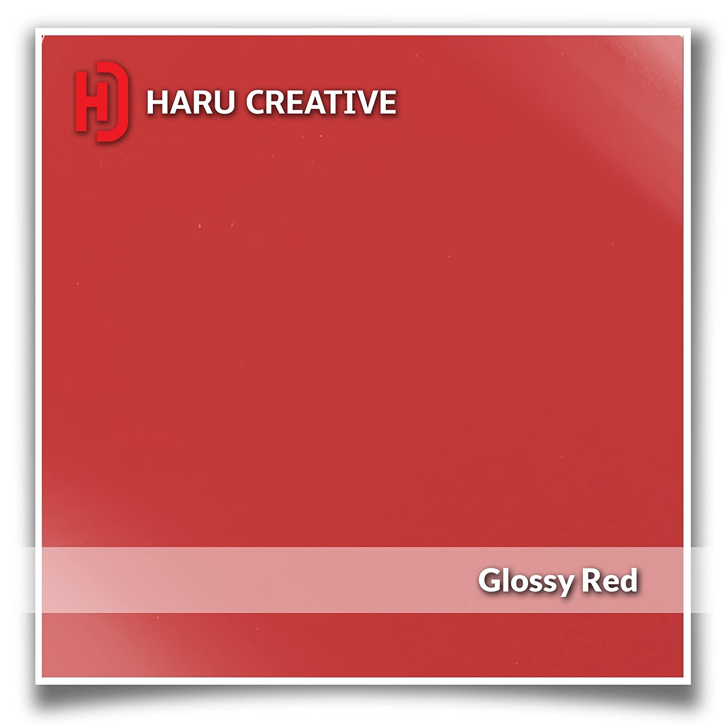 Haru Creative Rear Trunk Tailgate Bed Rail Cap Letter Insert Overlay Vinyl Decal Compatible Chevy Chevrolet Silverado 2014-2018 Gloss Red
