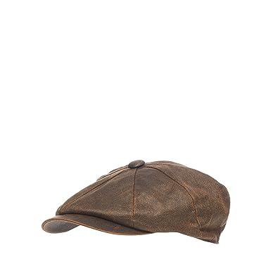 Mantaray Men Brown Waxed Baker Boy Hat L XL  Mantaray  Amazon.co.uk ... 3e46b976f87