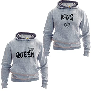 King Queen Hoodie Queen King Matching Couple Sudadera Unisex: Amazon.es: Ropa y accesorios