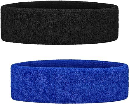 Cotton Terry Lot of 6 GOGO Adult Youth Rainbow Striped Headband Sweatband Pack