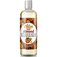 Artizen Sweet Almond Oil - 16oz (Ounce) Bottle (100% Pure & Natural) - Perfect Carrier Oil for Diluting Essential Oils - Cold Pressed - Works Great as a Massage Oil, Aromatherapy, More!