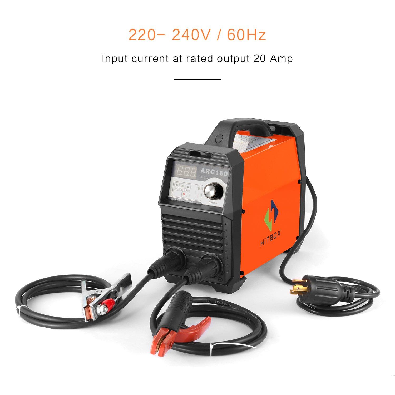 Arc soldar 160 A Digital 220 V DC Lift Wig Soldadura Eléctrica con Erdklemme electrodo plana listo para usar.: Amazon.es: Bricolaje y herramientas