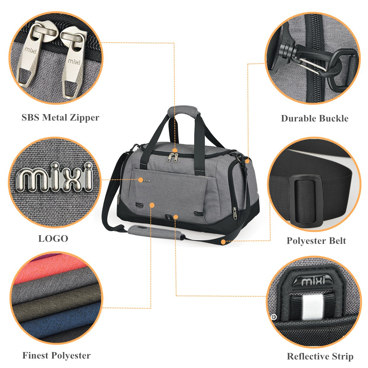 Mixi Trendsetter Carry On Sports Gym Bag  b1e976785966d