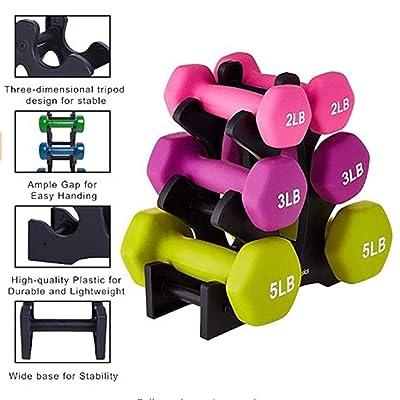 Black 3 Tier Hand Holder Sports Dumbbell Rack Storage Holder Exercise Equipment