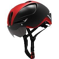 Casco de bicicleta Shinmax para hombre y mujer, certificado CPSC/CE, con luz de carga USB y anteojos magnéticas…