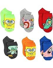 Spongebob Boys 6 pack Socks (Toddler/Little Kid/Big Kid)