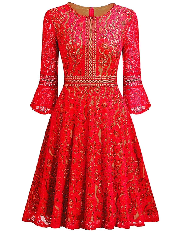 Kleid Rockabilly Elegant Arm 34 DamenSpitzenkleid dhCtQrs