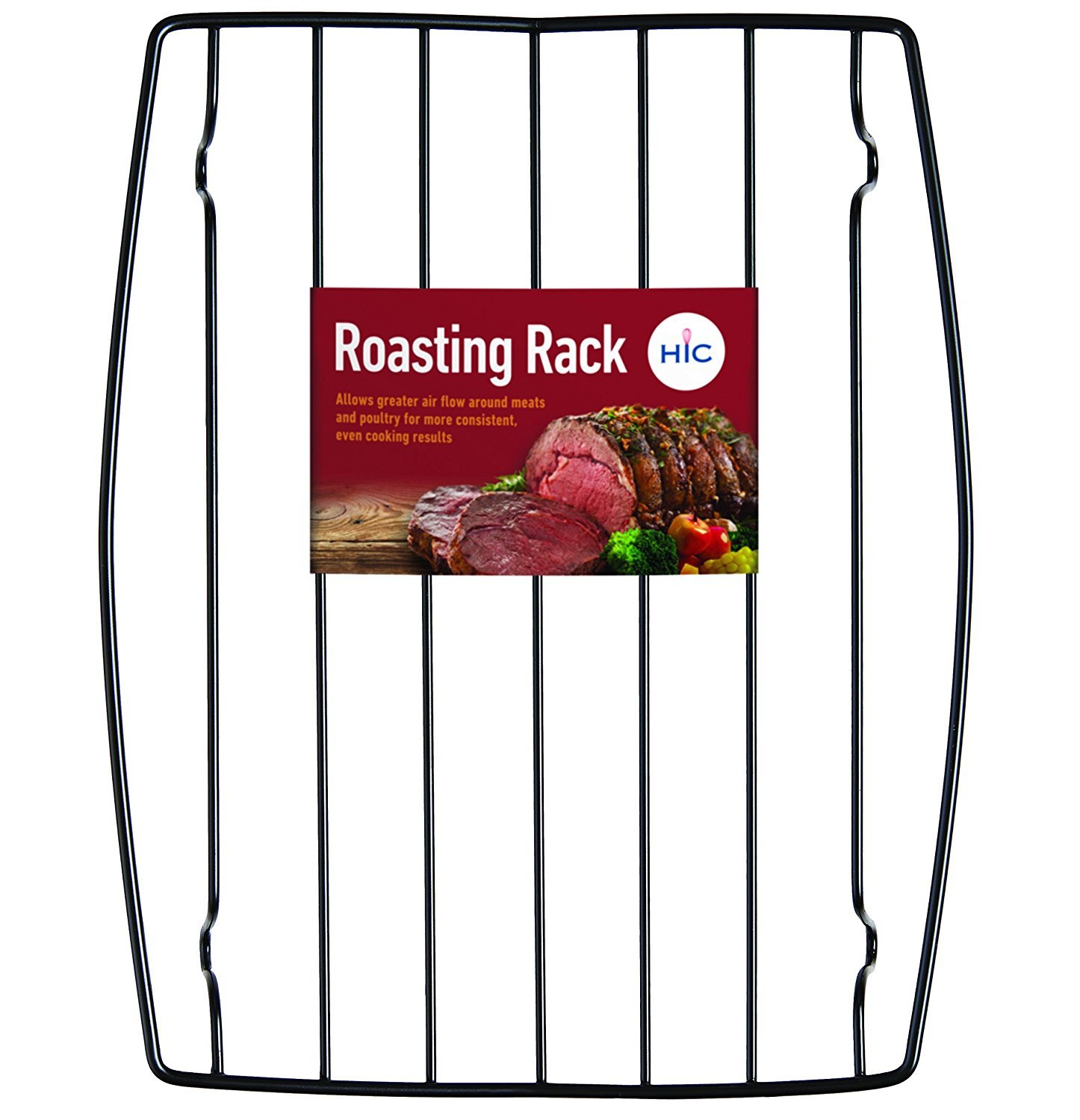HIC Harold Import Co. 43181 Rectangular Wire Roasting Rack, Nonstick