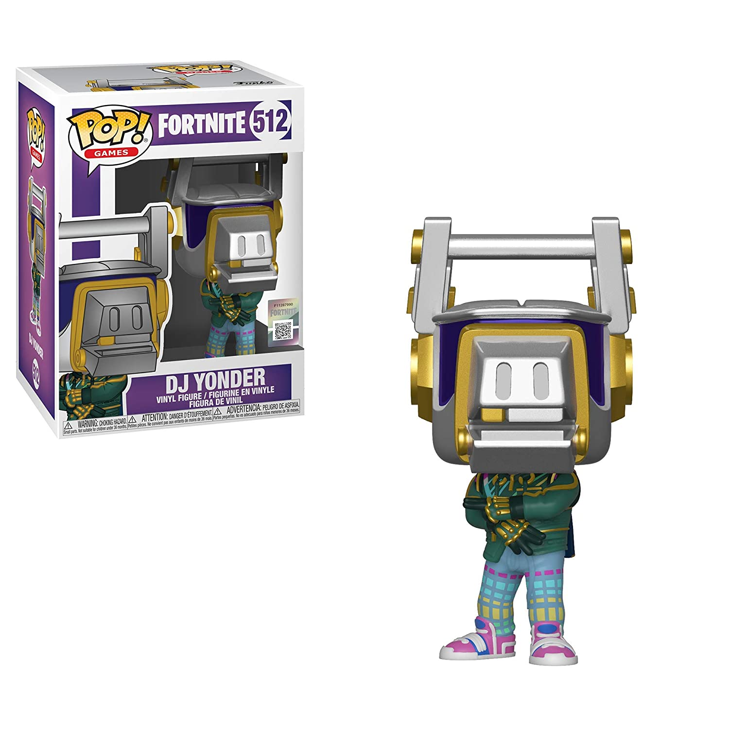 Funko- Pop Vinilo: Games: Fortnite: DJ Yonder Figura Coleccionable, Multicolor (39050)