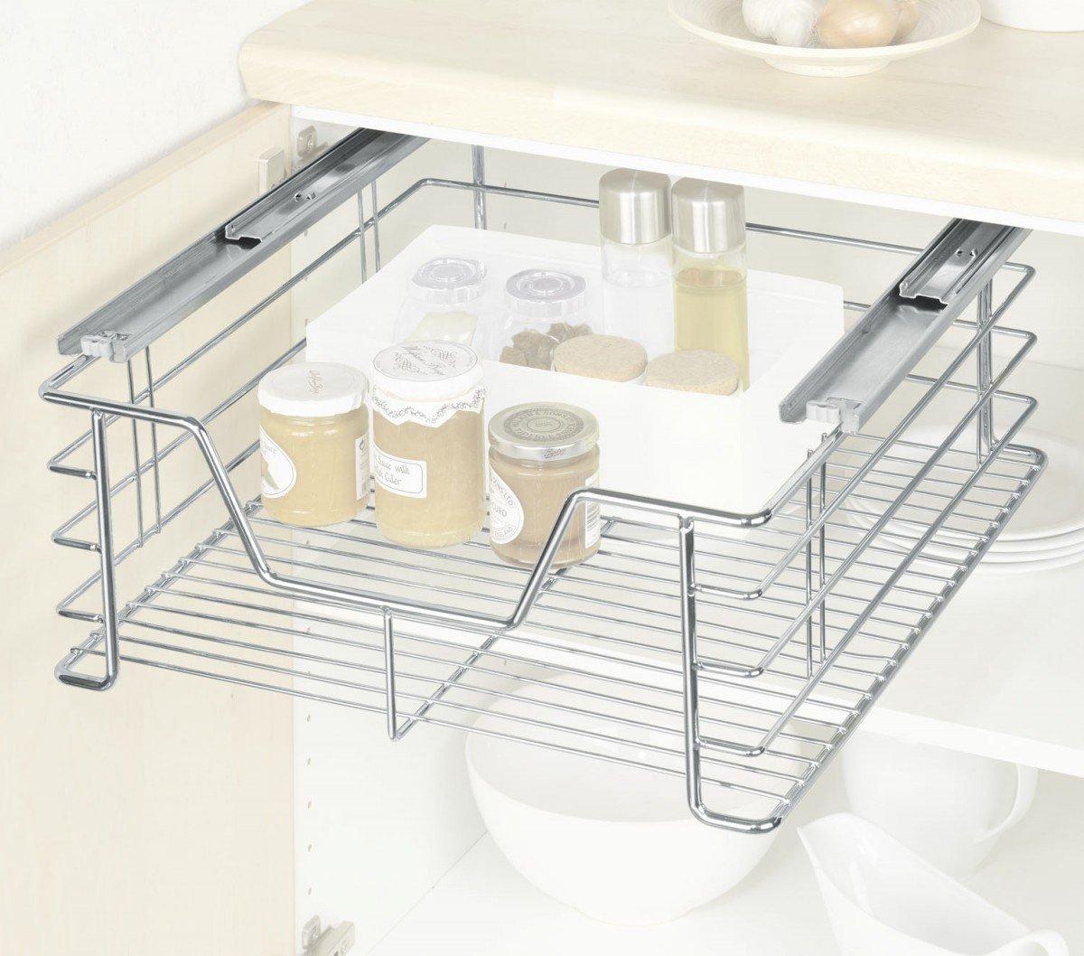 Wenko 5911500 - Cesto extraíble para armarios de cocina (tamaño ...