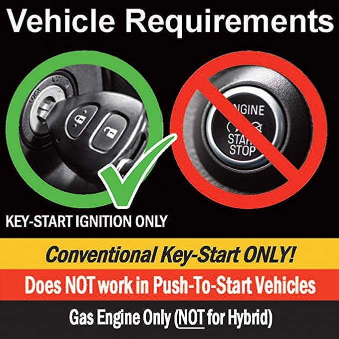 Diesel  with T-Harness OEM Key Fob Activated MPC Plug N Play Remote Starter for 2017-2019 Ford F-250 Super Duty NO HONK-Lock-Unlock-Lock Key to Start 